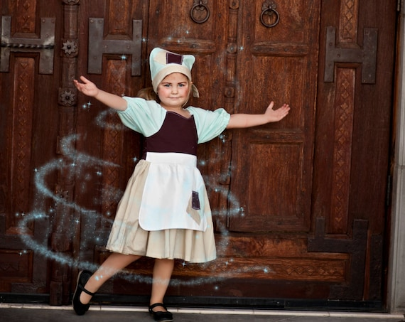 Inspired Princess Cinderella Rags Character Dress for Infants, Toddlers, Girls Sizes 12 mos to Size 10 Birthday Dress Eyelet