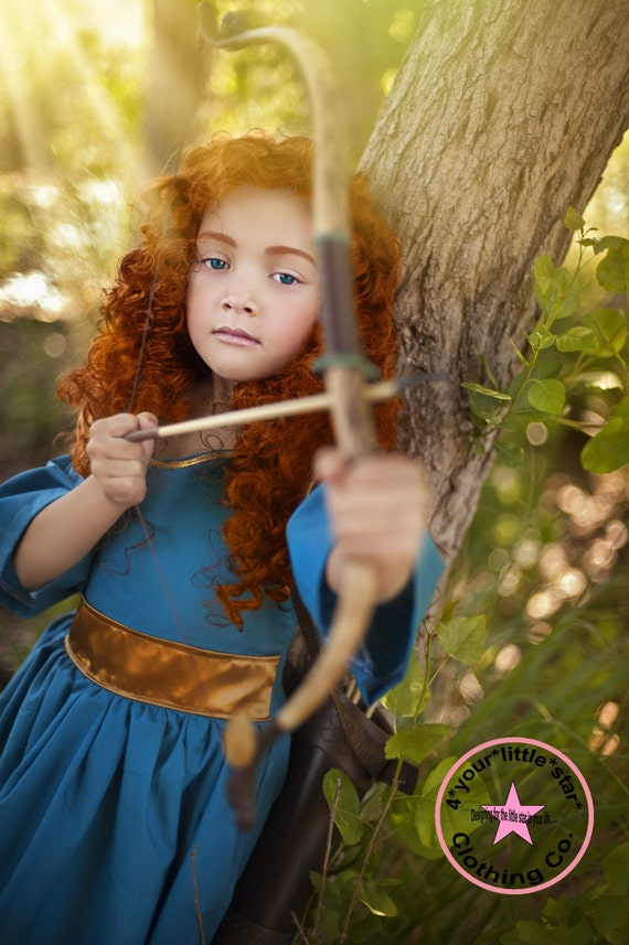 Inspired Brave Merida CharacterDress for Infants, Toddlers, Girls Sizes 12 mos to Size 10