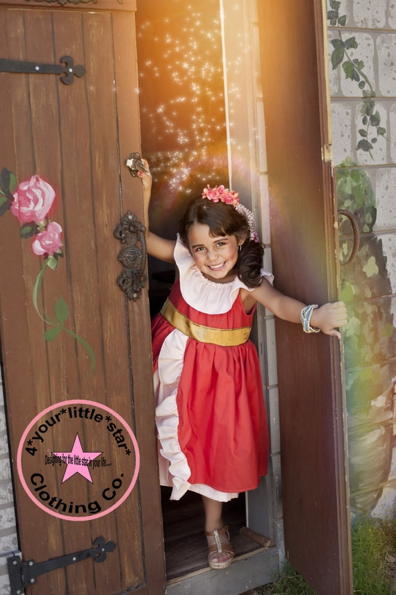 Inspired Princess Elena from Sophia the First Character Dress for Infants, Toddlers, Girls Sizes 12 mos to Size 10