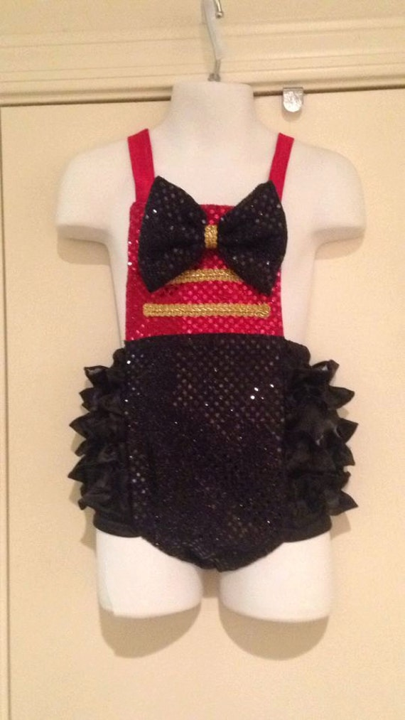 Circus Fun Sequin OTT Ring Master ruffled Romper Babies 0-3 mos up to 2t Birthday romper, 1st Birthday outfit