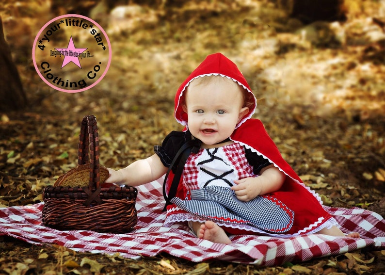 Little Red Riding Hood Costume Dress for babies includes cape