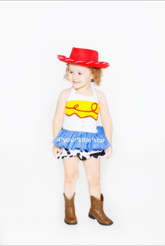 Inspired Jessie Cowgirl Romper Toy Story sizes 0-3 mos infants up to girls size 6 toddler
