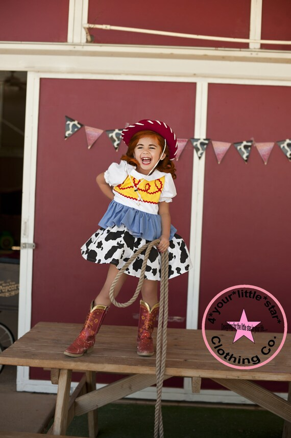 Inspired Jessie Toy Story Character Dress for Infants, Toddlers, Girls Sizes 0-3 mos to Size 10