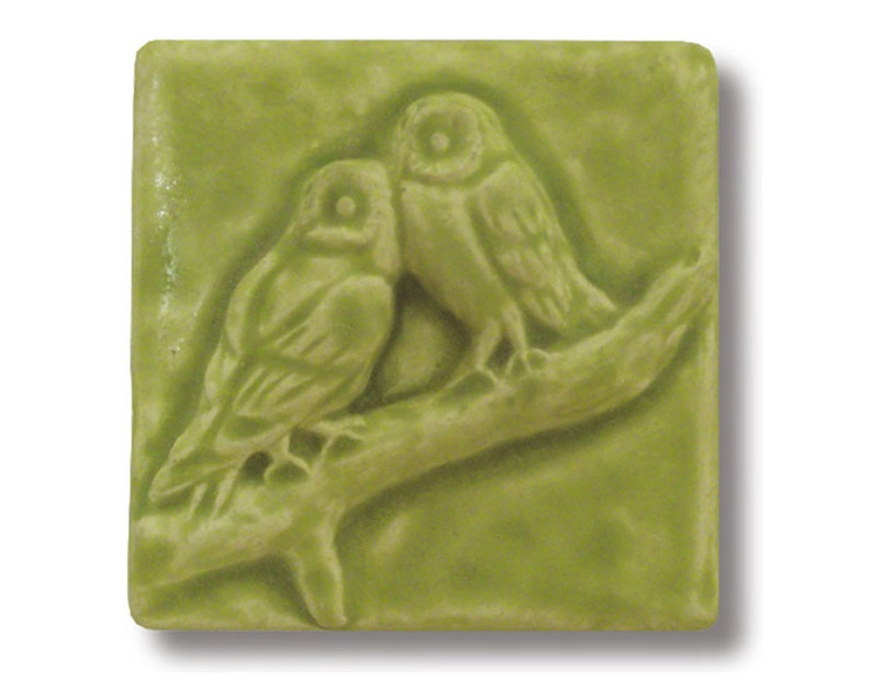 Owl Friends Art Tile