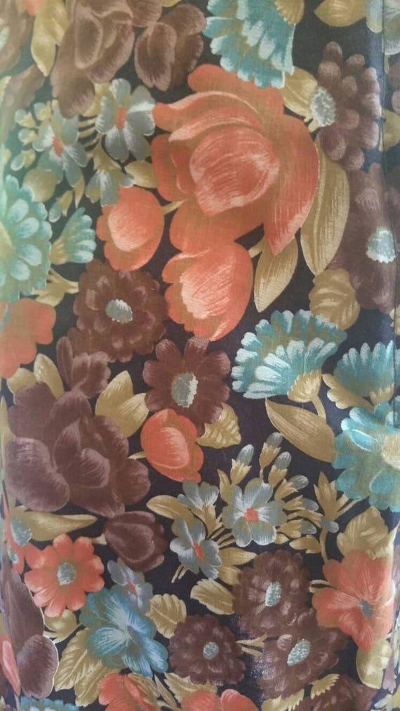 Floral 70s ruffle boho gypsy skirt 1970s hippy fe… - image 5