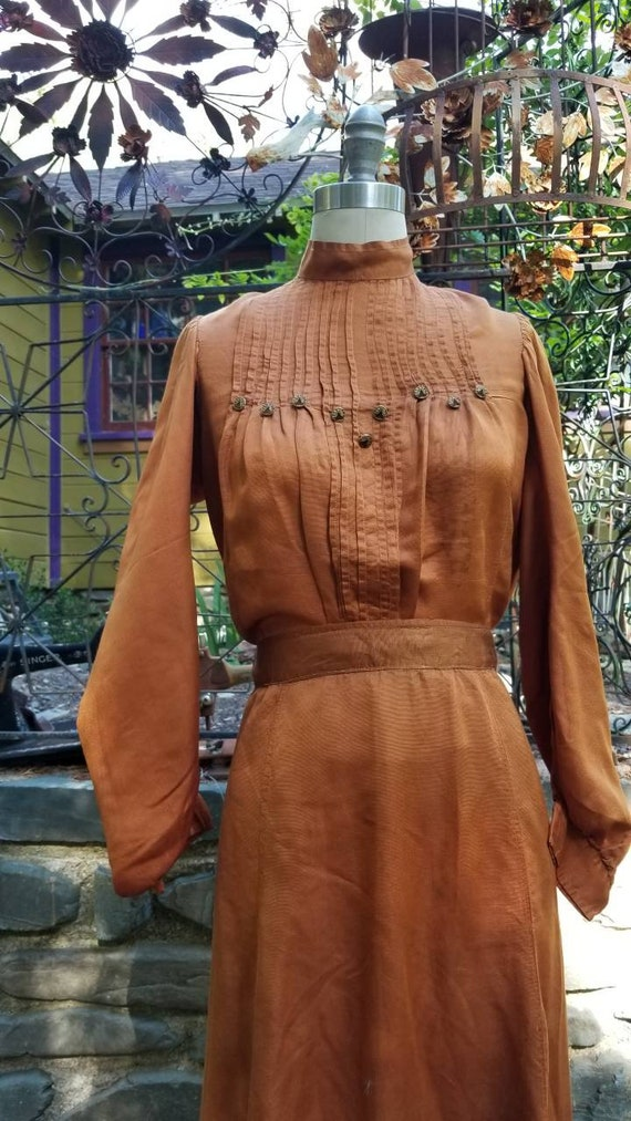 Strunning copper 3 pc. Edwardian walking suit 1900