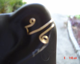 2 Pair Of Ear Cuffs (1 Pr) 14K Gold Filled And (1 Pr)  Sterling Silver