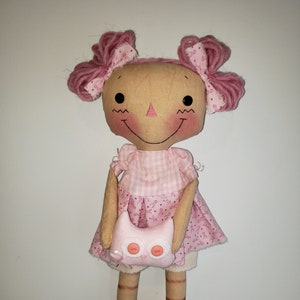 raggedy doll breast cancer awareness Pink Ribbon Rag Doll with Owl sewing Pattern DIY HFTH212 Pink ribbon Gift