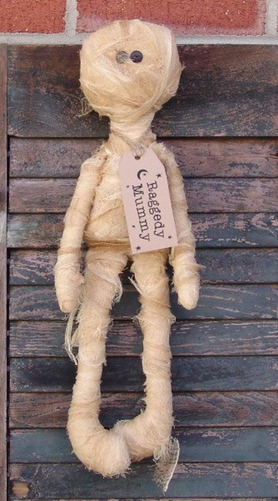 Primitive Halloween Mummy Doll Pattern Raggedy Mummy Doll