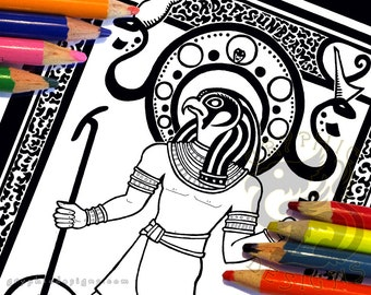 Egypt Coloring Page Etsy
