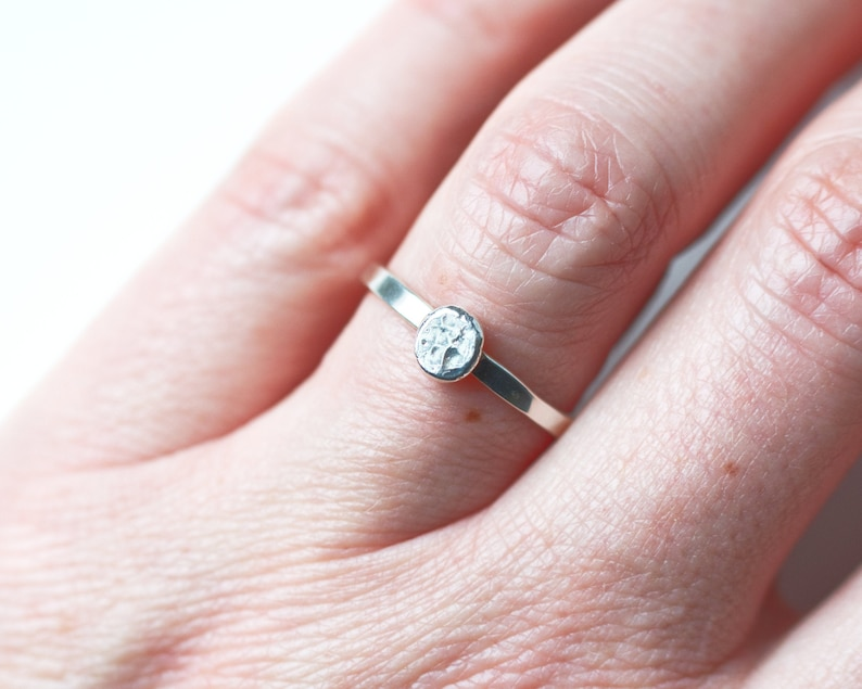 Sterling Silver Ball Ring Fun Gift for Her Recycled Silver image 0