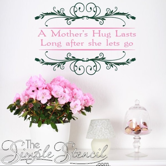 A Mothers Hug Quote Mothers Day Gift Idea Vinyl Etsy