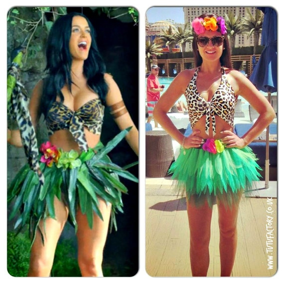 sc 1 st  Etsy & Katy Perry inspired neon Tutu Set Roar Costume Outfit Leopard