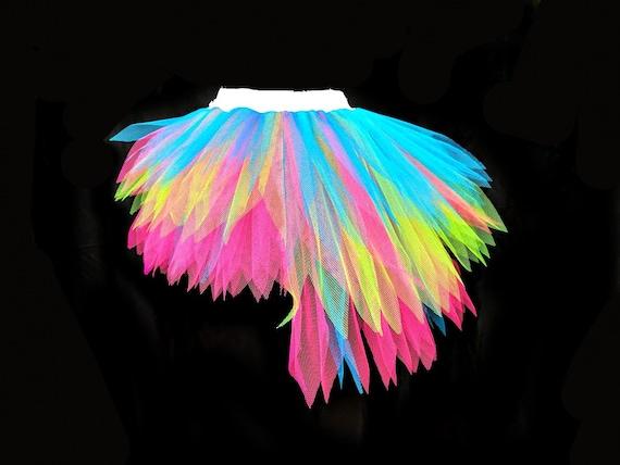 NEON TUTU RAINBOW PRIDE SKIRT ALL SIZES 80S FANCY DRESS FUN RUN HEN PARTY NIGHT