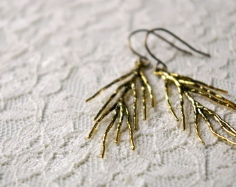 Branch earrings.