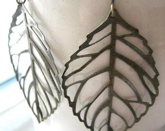 Falling leaf earrings.