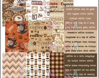 Coffee Backgrounds ATC - Ephemera Paper Goods