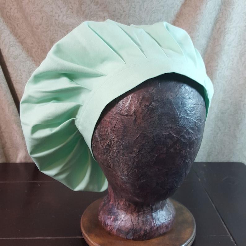 45e7ec666f751 Medieval Caul Light Mint Green Muffin Cap Hat Renaissance
