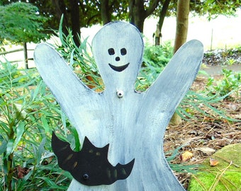 GHOST with BAT Garden Stake