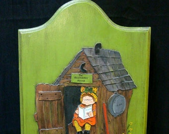 """Painting on wood """"Girl in Necessary House"""""""