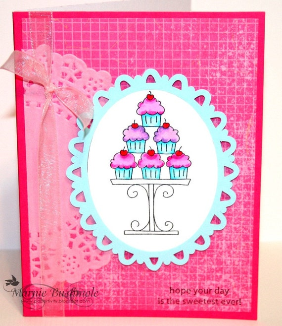 Greeting Cards Handmade Birthday Card For Her Sweetest Ever Etsy