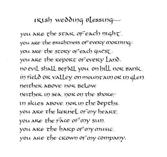 Image result for irish wedding blessing