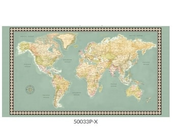 Accurate world map | Etsy