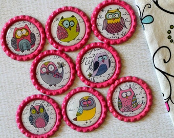 Cute Owl Magnets- Gift for Her- Owl Decor- Owl Lover- Gift for Mom- Owl Kitchen Magnets- Gift for Friend- Silly Owl Magnets- Teacher Gift