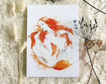 "Postcard - Illustrated postcard - fox postcard - ""Tomorrow, if you like..."""