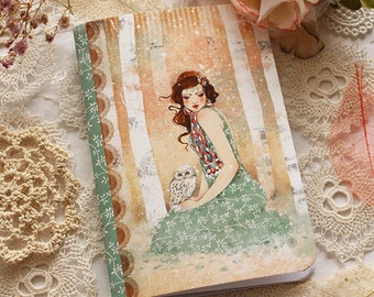 Illustrated notebook - Mademoiselle Snow