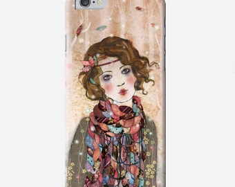 Smartphone case - iPhone or Samsung Galaxy case - Souvenir d'hiver