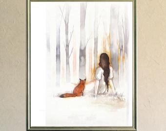 Art Print - Poster - Fox - Digigraphy - Illustration - L'Aube