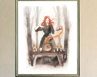 Art Print - Poster - Fox - Digigraphy - Illustration - The Wood Witch