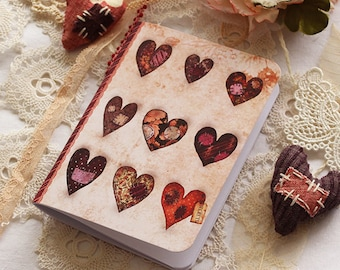 Illustrated notebook - Little Stiched Hearts