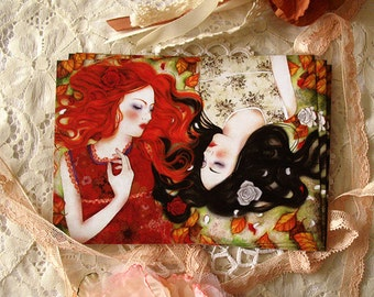 Postcard - Snow-White and Rose-Red