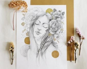 """Original artwork - Drawing - Illustration - Poster - """"The Golden Age"""""""