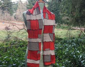 cashmere mosaic patchwork scarf
