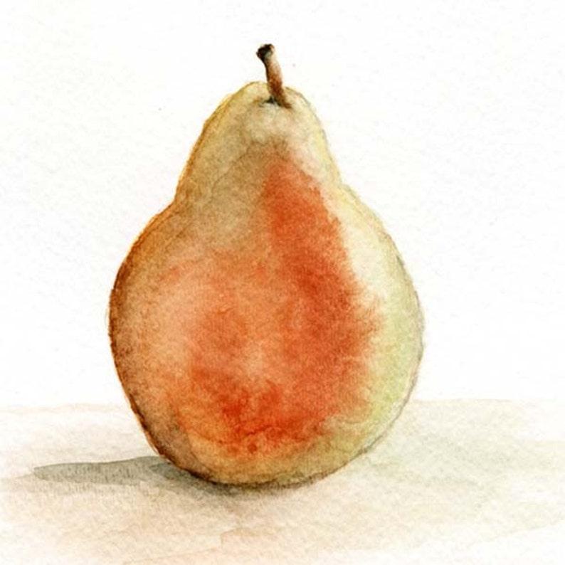 The Pear print - art by Marion Bermondy on Etsy. #pear #artprint