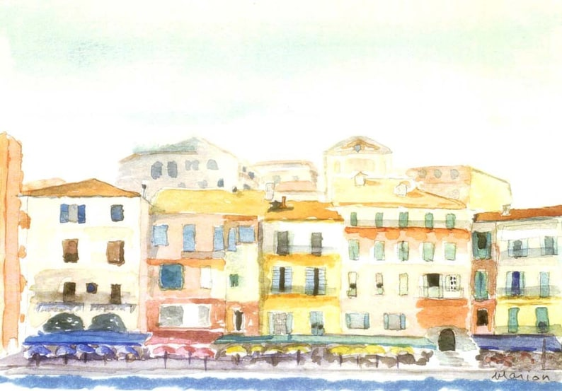 Villefranche-Sur-Mer - art print by Marion Bermondy on Etsy.