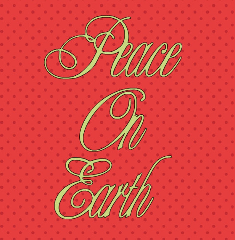 SVG peace on earth centered image 0