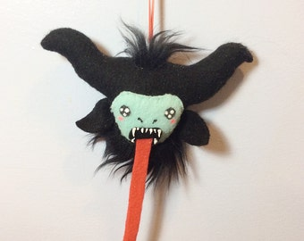 Krampus Christmas Ornament - Weird Monster Decoration MADE TO ORDER