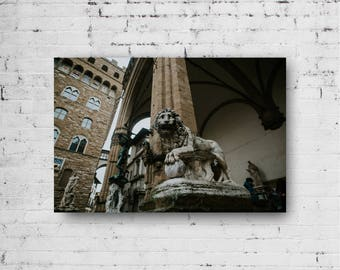 Italy photograph Florence Tuscany photography city photograph wall art  street city urban scene sculpture renaissance