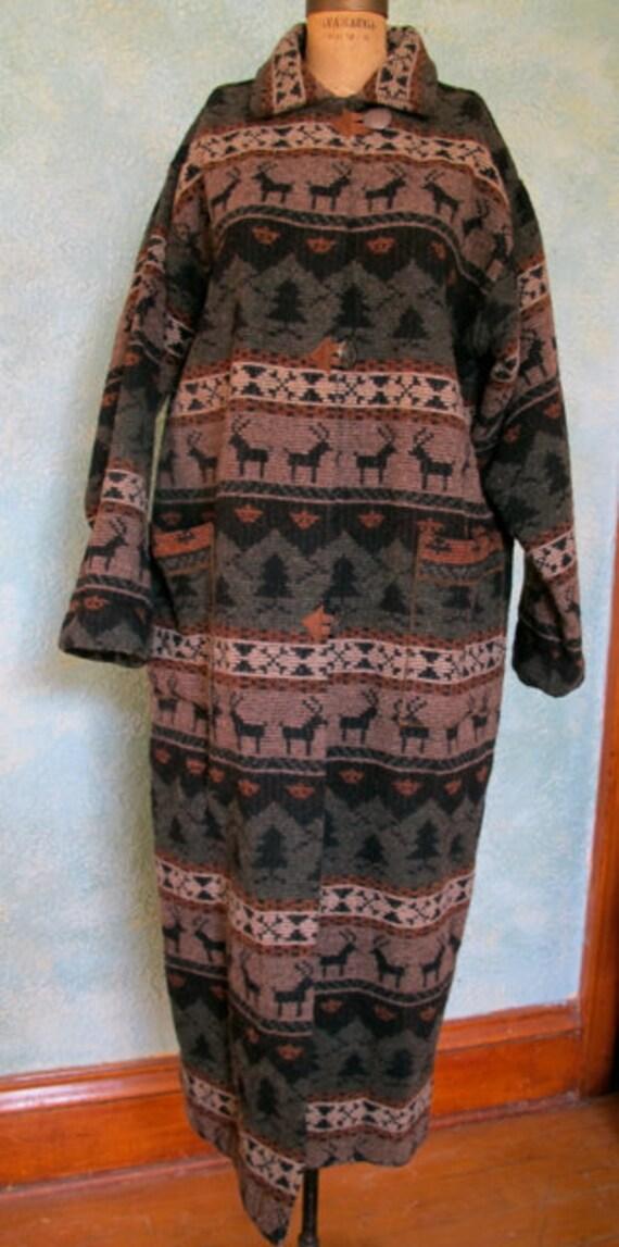 Southwest Coat, Urban Cowgirl Long Coat, Vintage D
