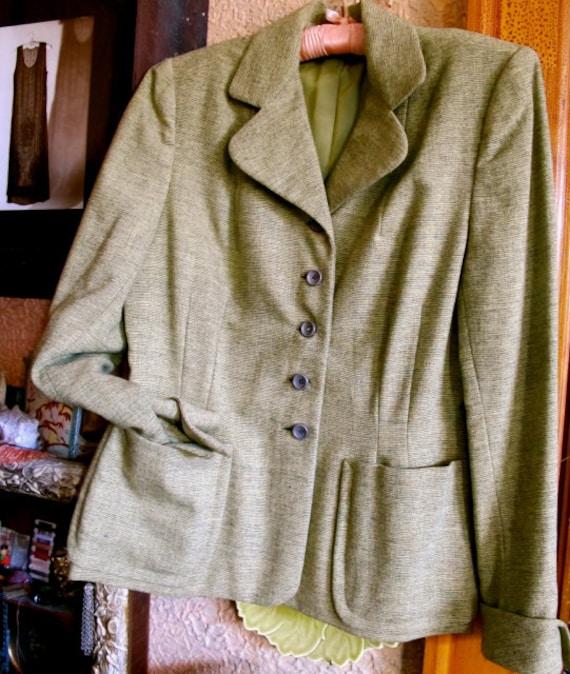 40s Jacket, Tailored Jacket,  Padded Shoulders Coa