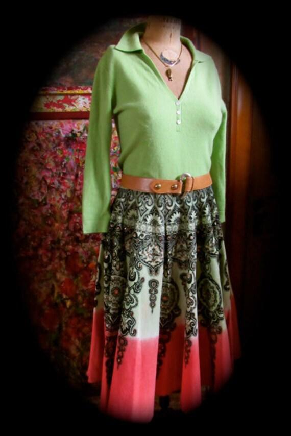 Novelty circle skirt, Rockabilly Skirt,   Boho Cir