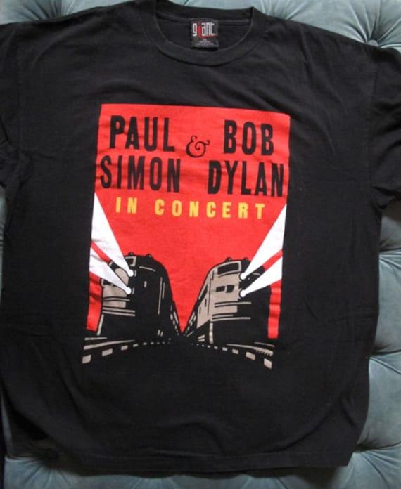 Vintage Paul Simon & Bob Dylan Concert T Shirt,  A