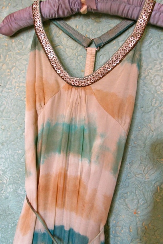 vintage tie dye dress, burning man outfit, boho  t