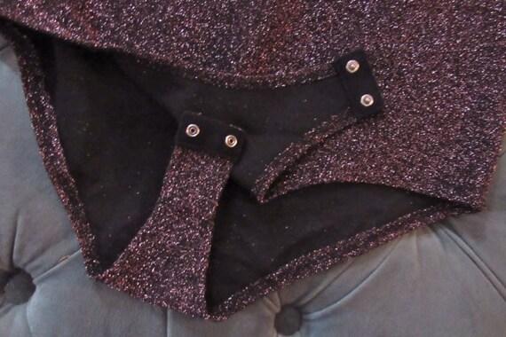 80s sparkle bodysuit, plum bodysuit, disco bodysu… - image 5