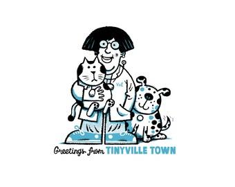 Tinyville Town: I'm a Veterinarian screenprint