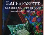 Kaffe Fassett Glorious Needlepoint 1989 vintage 1980s book